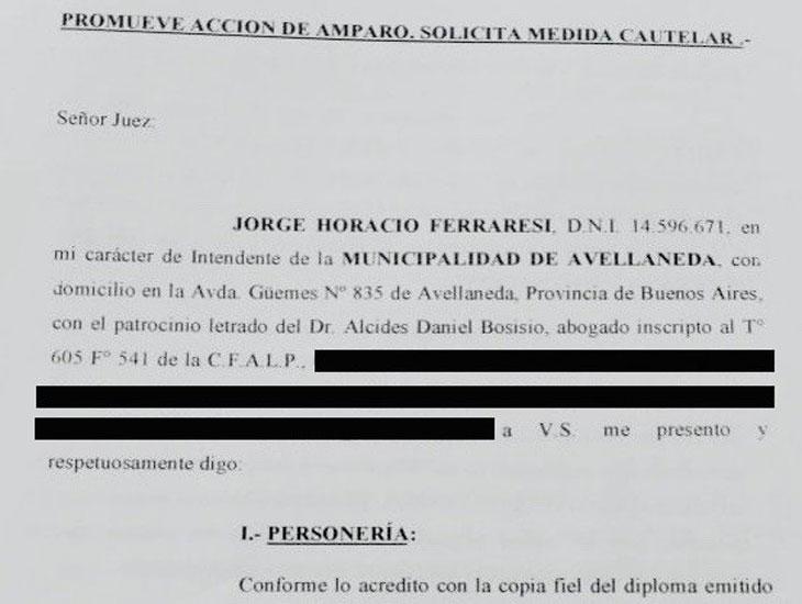 Ferraresi presentó un amparo contra la suspensión del Fondo Sojero