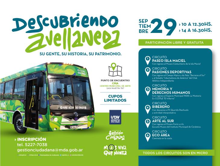 """Presentamos """"Descubriendo Avellaneda"""", un recorrido turístico por la Ciudad"""