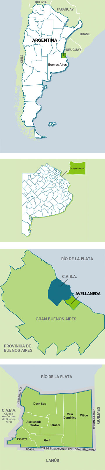 Ubicación - Avellaneda en mapas