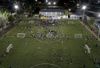 El Municipio construyó una cancha de césped sintético en el Club Real Buenos Aires