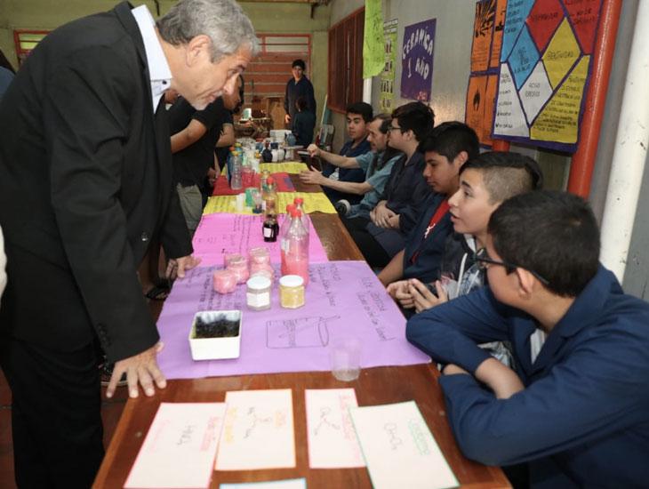 El Intendente visitó la muestra anual de la Escuela Técnica «Longobardi»