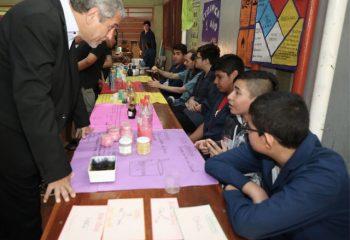 "El Intendente visitó la muestra anual de la Escuela Técnica ""Longobardi"""