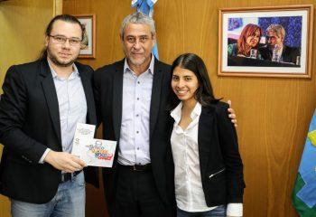 Ferraresi recibió en Güemes a funcionarios del gobierno de Venezuela