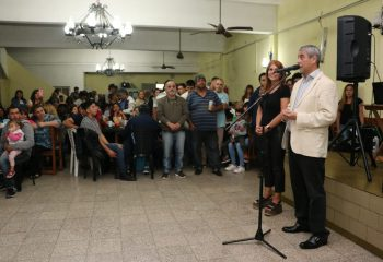 Ferraresi participó de una cena con más de 400 trabajadores de las ferias de la ciudad