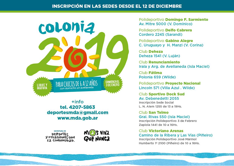 Comenzó la inscripción a la colonia de vacaciones 2019