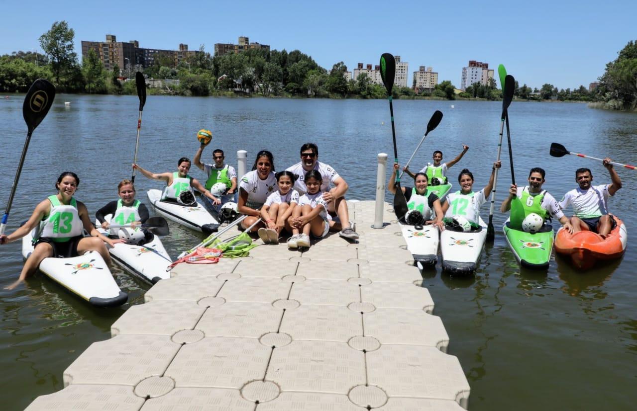 La Escuela de Canotaje de Avellaneda recibió equipamiento y será sede de la Copa Argentina de Kayak Polo