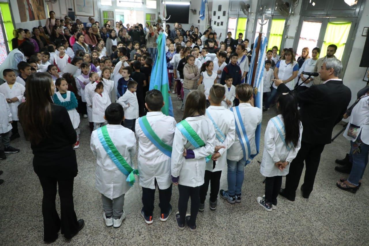 Ferraresi participó de los actos por la Memoria e inauguró obras en escuelas