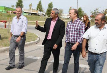 Ferraresi recibió a Martin Insaurralde y le mostró el funcionamiento del Eco Punto de Avellaneda