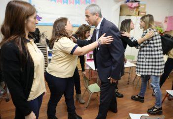 Ferraresi visitó el Instituto San Patricio en su 25° aniversario