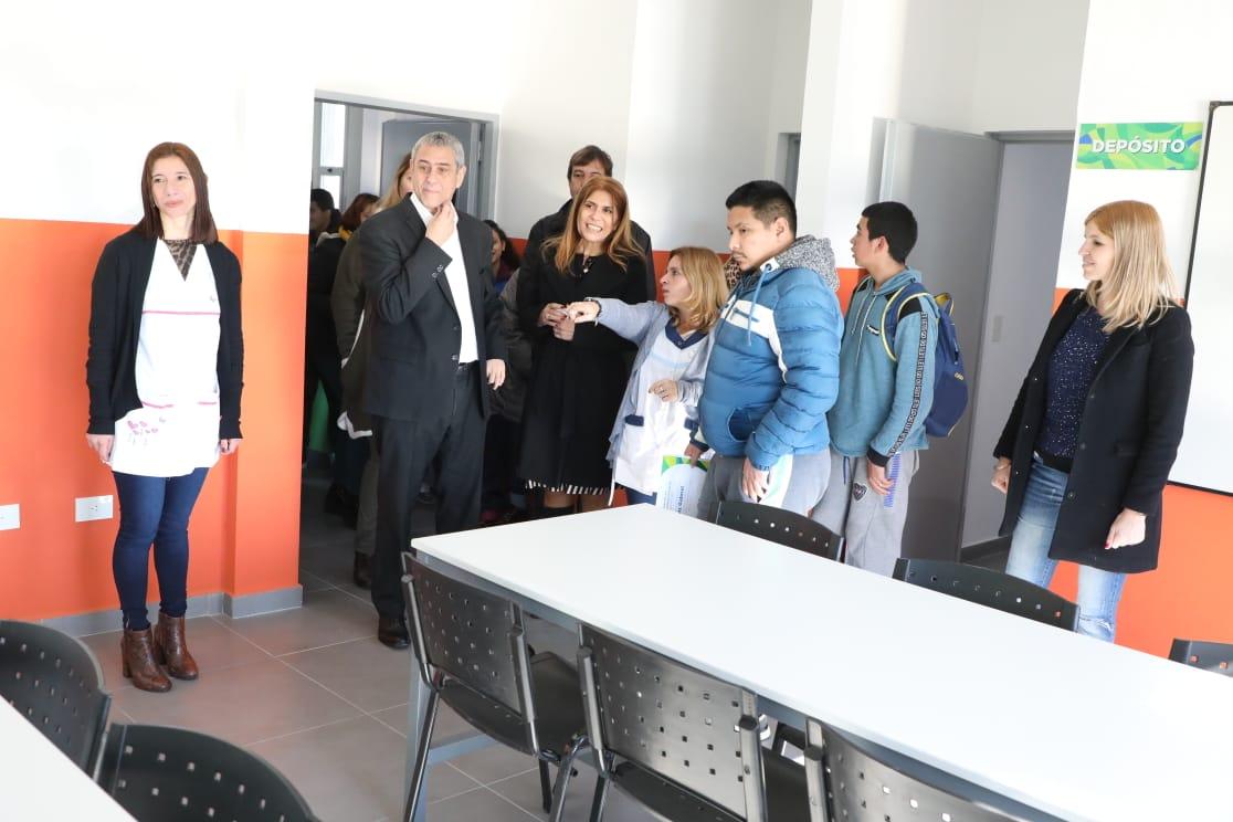 Avellaneda construyó un nuevo edificio escolar para el Centro de Formación Integral N° 1