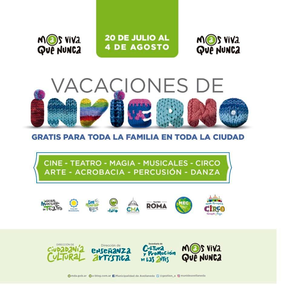 Avellaneda ofrece más de 200 espectáculos gratuitos para las vacaciones de invierno
