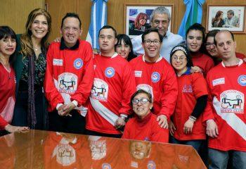 Ferraresi recibió a miembros de la Asociación Nuevo Club