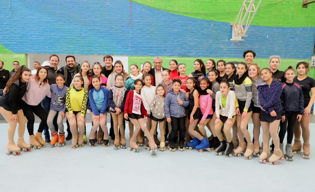 Ferraresi recorrió el complejo de alto rendimiento deportivo de Villa Domínico junto a dirigentes de San Nicolás y Tornquist
