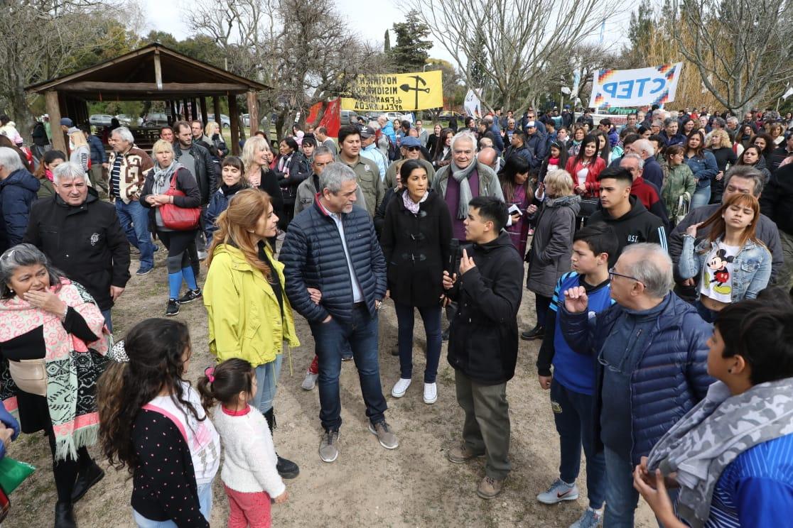 Ferraresi participó de la apertura del Centro de Recreación y Producción Agroecológica de la UST