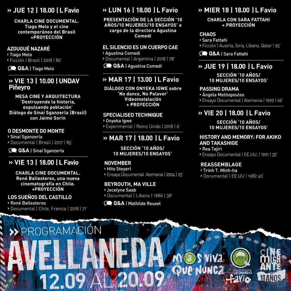 El Edificio Municipal Leonardo Favio es sede de la 10° edición del Festival CineMigrante