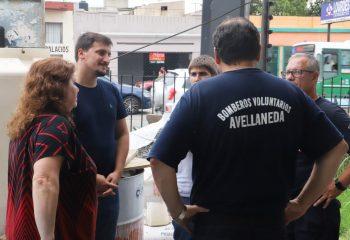 Avanzan las obras del destacamento Nº 2 de Piñeiro de los Bomberos Voluntarios de Avellaneda