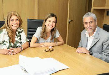 Ferraresi se reunió con la ministra Fernanda Raverta