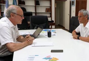 Ferraresi se reunió con el ministro Gollán