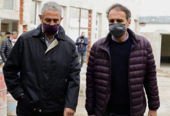 Ferraresi y Katopodis recorrieron obras públicas en Avellaneda