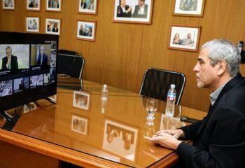Ferraresi acompañó al presidente Fernández en la puesta en funcionamiento de una línea de fabricación de lavarropas en Avellaneda