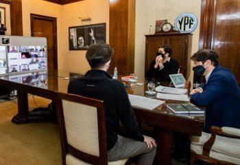 Ferraresi firmó con Kicillof un convenio para realizar obras de infraestructura deportiva