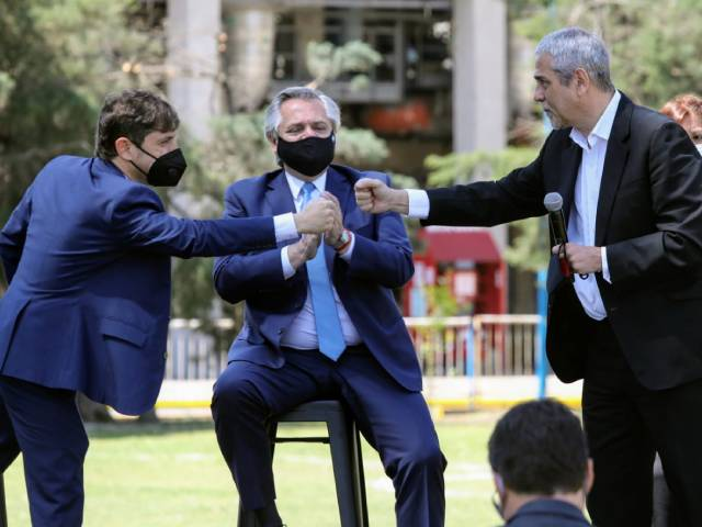 Ferraresi acompañó a Alberto Fernández y a Axel Kicillof en el anuncio de inversiones en Avellaneda