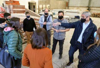 Ferraresi visitó obras y un centro de jubilados junto a funcionarias del Ministerio de Desarrollo Social