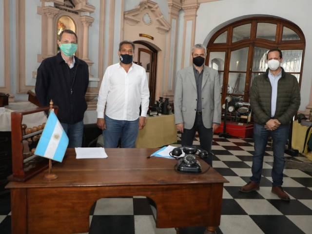 Se firmó un convenio para poner en valor el Museo Ferroviario Bonaerense