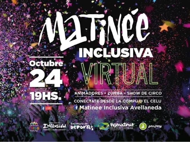 ¡Festejemos el 3er aniversario de Matinee Inclusiva, te esperamos!