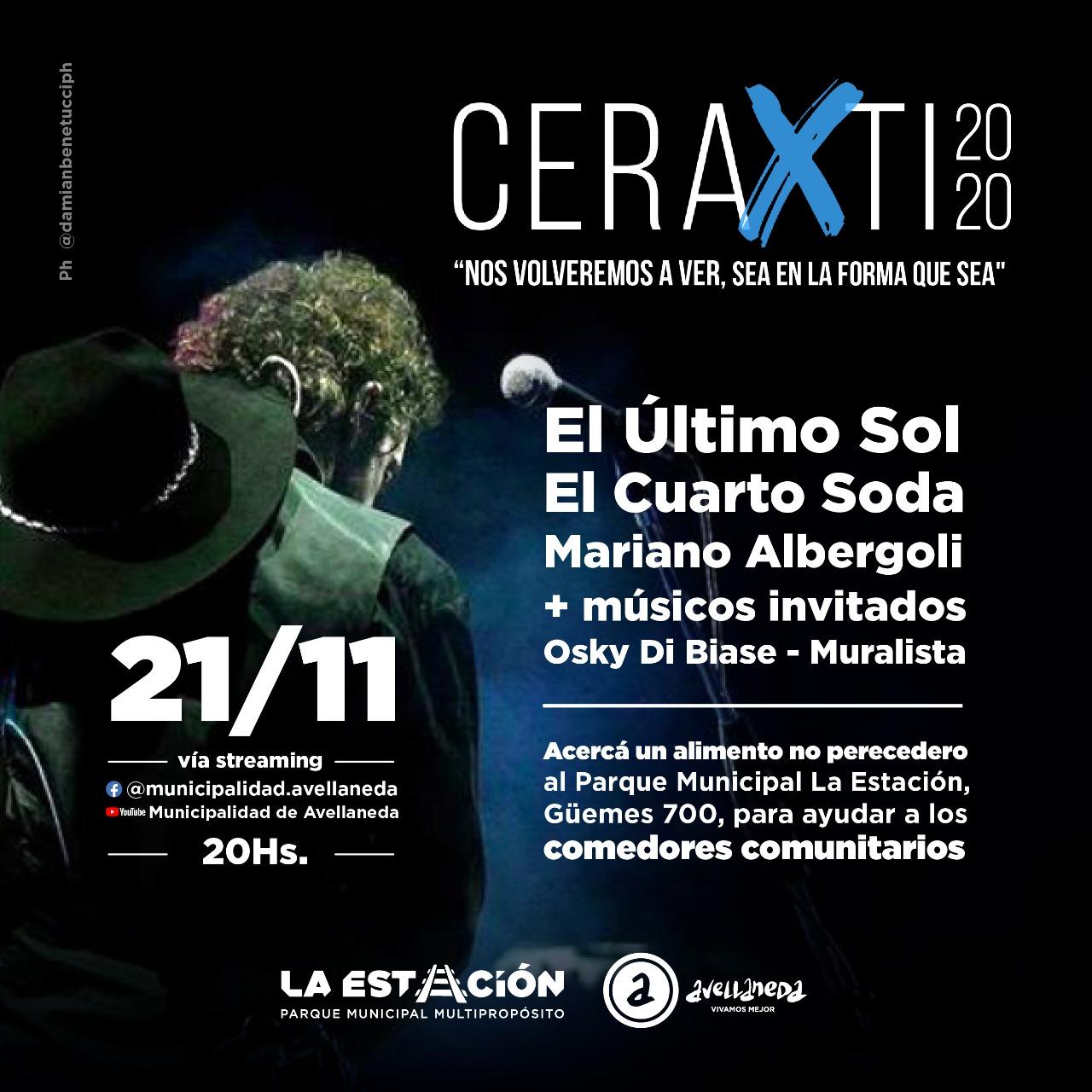 Festival solidario vía streaming «CERAXTI 2020»