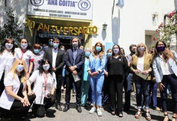 """El intendente Chornobroff acompañó a Santiago Cafiero en el 70° aniversario del Hospital """"Ana Goitía"""""""