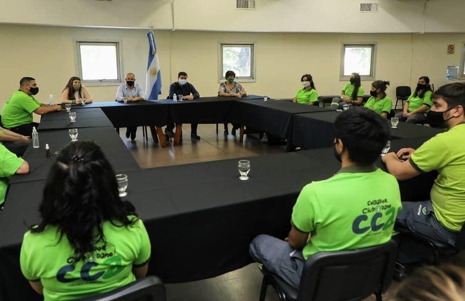 El intendente Chornobroff se reunió con los Cuidadores Ciudadanos, al cumplirse dos años de su creación