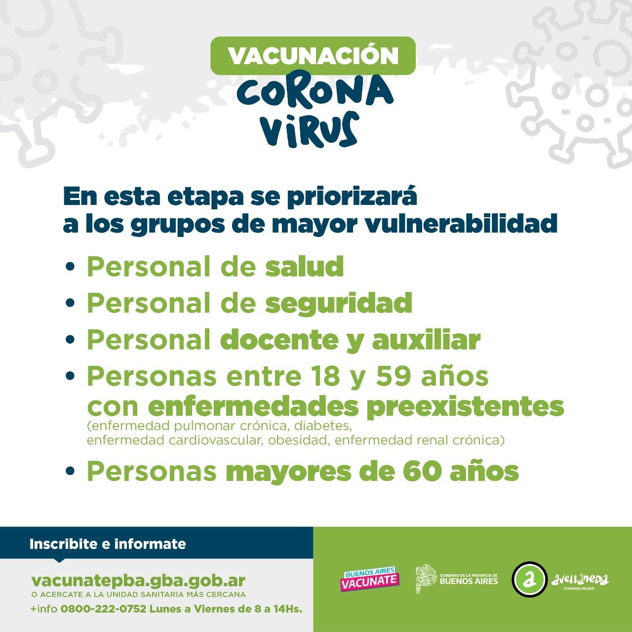 Continúa la campaña voluntaria de vacunación provincial contra el coronavirus