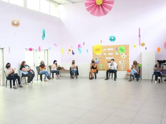 El intendente y Magdalena Sierra se reunieron con las directoras de los jardines maternales municipales