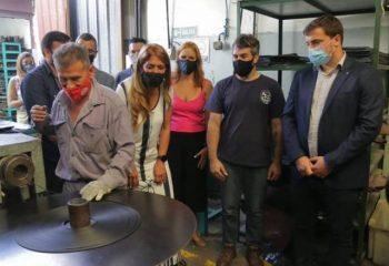 El intendente Chornobroff, junto a la ministra Ruiz Malec y Magdalena Sierra visitaron La Cooperativa San Carlos