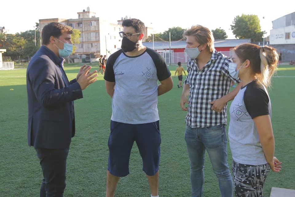 Alejo Chornobroff visitó los entrenamientos de los equipos federados municipales