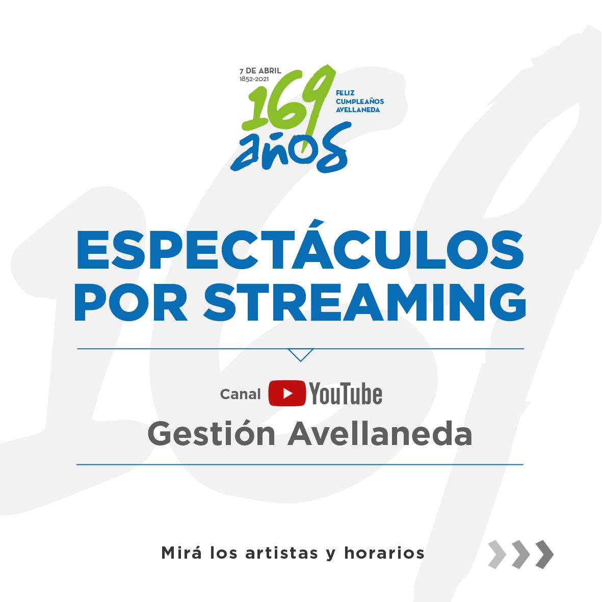 Avellaneda cumple 169 años y lo celebra con espectáculos vía streaming
