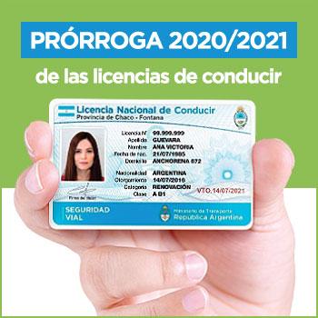Prórroga 2020/2021 de las licencias de conducir