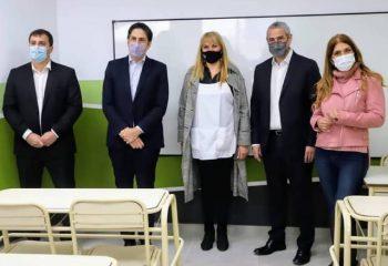 Los ministros Trotta y Ferraresi inauguraron obras en dos escuelas de Avellaneda