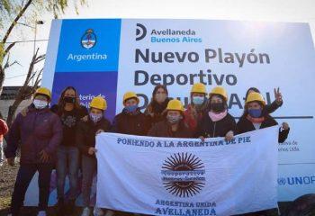 Magdalena Sierra firmó el acta de inicio de obras para el barrio Danubio Azul, de Dock Sud